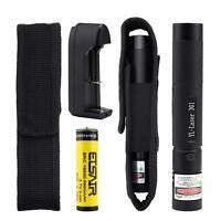 10miles Purple 5mw 532nm Laser Pointer Pen Light Visible Beam Burning+Battery MT
