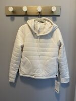 NWT Lululemon Size 6 Insulated Cream Pullover Hoodie Jacket!
