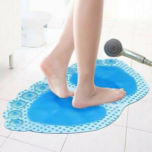 New Bathroom PVC Rubber Suction Cups Shower Bath Massage Non Slip Mat Popular
