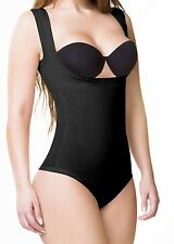 Real Curvy Women Fajas Colombianas Compressing Bra less Bodysuit Thong 1512