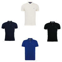 Tommy Hilfiger Polo Shirt Short Sleeve Men's Top Black Blue White New Sale !