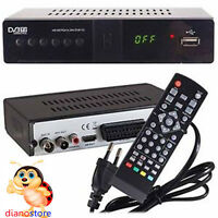 DECODER RICEVITORE DIGITALE TERRESTRE HDMI 1080P TV DVB-T2 USB TELECOMANDO