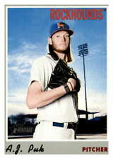 2019 Topps Heritage Minor League #47 A.J. Puk Midland RockHounds