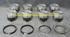 "Ford 460 Hypereutectic Flat Top Pistons+Cast Rings Kit +040"" Silvolite"
