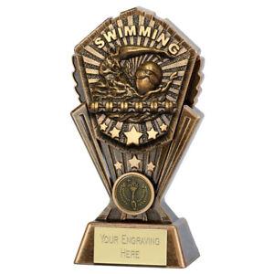 Cosmos Swimming Trophy - Free Engraving