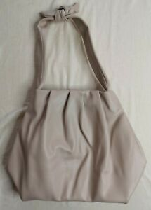 Zara Women's Ecru Knotted Shoulder Strap Soft Tote Bag Used Condition