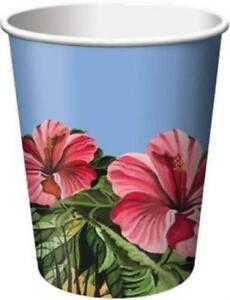 Polynesian Party 9 oz Hot/Cold Cups 8 Pack Hawaiian Luau Party