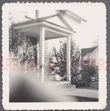 Unusual Vintage Photo Front Door of House w/ Finger Bomb Mistake 687626