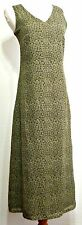 Old Navy Army Green Floral Print Polyester Long Juniors Lined Dress - Size 1