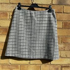 Vintage Marilyn Anselm for Hobbs Grey Mix Pure New Wool Mini Skirt Size 12 BNWOT