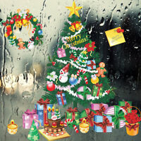 Merry Christmas Tree Gift Wall Stickers Store Window New Year Decor- LH