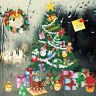 Merry Christmas Tree Gift Wall Stickers Store Window New Year Decor   I