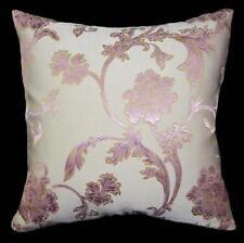 HC522a Dusty lavender Beige Flower Jacquard Cotton Cushion Cover/Pillow Case