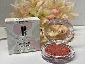 Clinique Cheek Pop Blush #01 GINGER POP - 0.12 Oz. / 3.5 g New In Box  Fast/Free