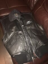 Genuine Rare Breitling Gilet Leather Jacket