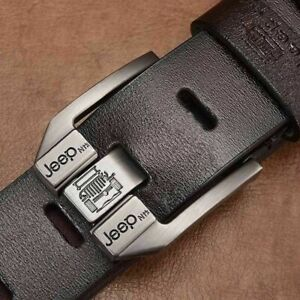 Genuine Leather Men Belt Black Coffee High Quality Cowskin Belt Cowboy Waistband