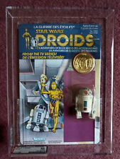 STAR WARS DROIDS  R2 D2 POP UP LIGHTSABER figure AFA GRADED 85% artoo detoo