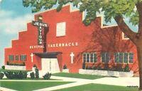 1940s Tulsa Oklahoma Revival Tabernacle Religion MWM postcard 464