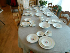 Noritake China Sharon #3057 Dinnerware Set for 7 with 6 Serving Pieces - 12-4