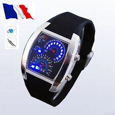 Montre Digital LED Bleu / TABLEAU de BORD/Sport/ Bracelet Caoutchouc