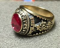 Jostens U.S. Marine Corps Men's Ring with Stone, Size 10