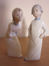 2 Rex Valencia Hummelwerk Porcelain figures, Boy & Girl, Spain
