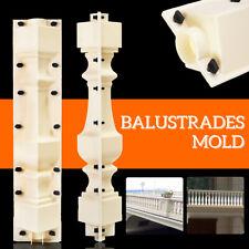 2 Piece Balustrades Post Mould Concrete Fence Baluster Column Railing Mold  !