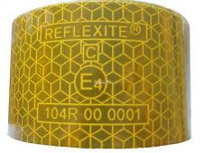 6,99€/m  1 m x 51mm Reflexfolie gelb stark klebend + reflektierend Reflexite ECE