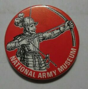 NATIONAL ARMY MUSEUM VINTAGE TIN PIN BADGE PLACE OF INTEREST VGC 1980S?.