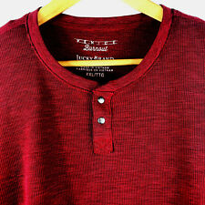 Lucky BRAND Burnout Men's Shirt Size XXL Long Sleeve Pullover Dark Red