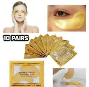 10 Pairs Collagen Gold Eye Mask Gel Anti-Wrinkle Dark Circle Under Eyes Patches