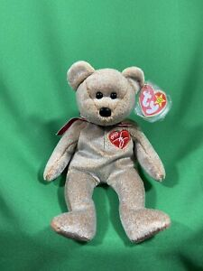 RARE Ty 1999 Signature Bear Beanie Baby Babies With Tag Errors Original MINT