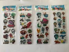 10 x OCTONAUTS Sticker strips for Party Bag Fillers Birthday, favours