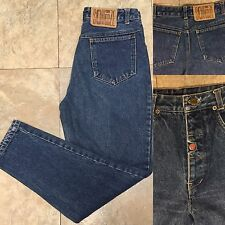 """Vintage Squeeze High Waist Tapered Leg Button Fly Jeans Vtg 9/10 29"""" Waist"""