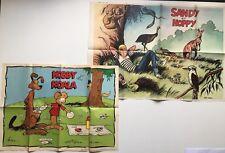 SANDY ET HOPPY LOT 2 POSTER SUPPLEMENT JOURNAL SPIROU N° 1789 & 1656 / LAMBIL
