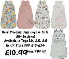 BABY SLEEPING BAG BOYS GIRLS EX UK STORE 1.0 - 3.5 Tog 0M-3Y COTTON BRAND NEW