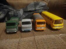 Vintage Lot Of 4 Wiking Vehicles German Bus Mercedes