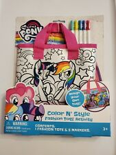 My Little Pony Fashion Tote Color N Style Art Craft Activity Set  NEW