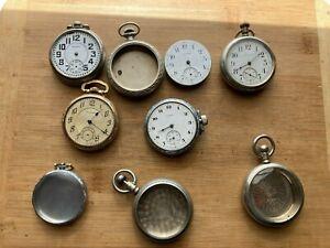 Pocket Watch Lot, Waltham, Elgin, Standard