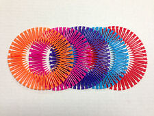 5 Pieces Stretch Circle Hair Band Flexible Teeth Barrette Butterfly Light Color