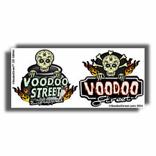 HOT ROD VOODOO SKULL FINK STICKERS BY VOODOO STREET™
