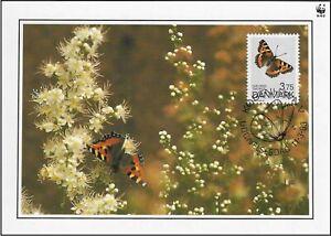 Butterfly Small Tortoiseshell Aglais Urticae Denmark Maxi FDC Card 1993
