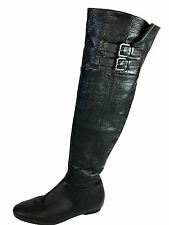 Calvin Klein Michelle Adjustable Buckle, Over the Knee Black Boots Size 6.5 Usa.