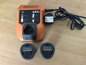 AEG 12v Lithium Battery Charger And 2 X Batteries