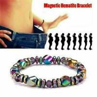 Weight Loss Multi-color Magnetic Bracelet Bead Hematite Stone for Therapy Health