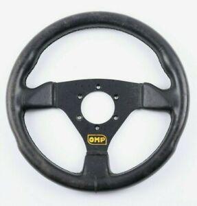 OMP Steering Wheel VW Golf 1 Mk1 Mk2 WOLFSBURG Vintage Top Deal Black