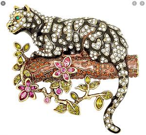 HEIDI DAUS Natural Instinct Ocelot Leopard Pin (Orig.$189.95) CUTE CRITTER!!
