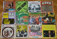 "60s Prog Psych Rock TRAFFIC SMALL FACES Yugoslav Italian German EP SP 7"" lot"