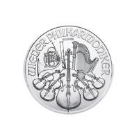 Silver 1 oz Austria Philharmonic Silver 1 oz .999 fine 1.5 euro Random Date coin