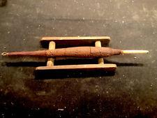 Old Rare Antique Fishing Bobber Set Up with Wooden Line Reel